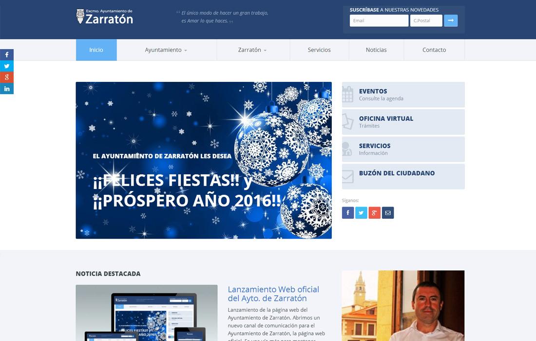 Web Ayuntamiento de Zarratón