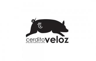 Logotipo Cerdito Veloz
